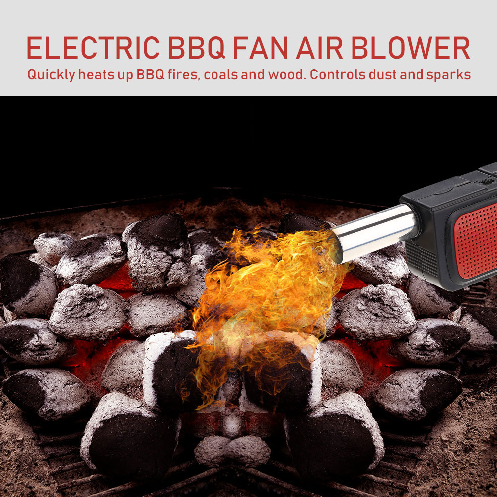 Portable Handheld Electric BBQ Fan Air Blower for Outdoor Camping Picnic Barbecue Cooking Tool, Barbecue Fan, Fire Blower