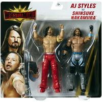 """AJ Styles & Shinsuke Nakamura - WWE Battle Packs """"WrestleMania 35"""" Toy Wrestling Action Figures"""