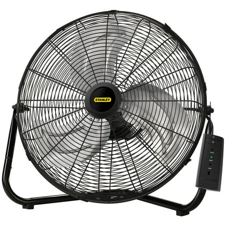 Lasko Stanley Max Performance 20  High Velocity Floor Wall Mount Fan With Remote Control