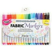 Best Fabric Markers - Tulip® Fabric Markers Fine Tip 20 Pack Rainbow Review