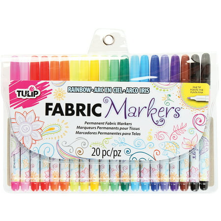 Tulip Multi-Colored Fine Fabric Markers, 20 - Dye Marker Accessories