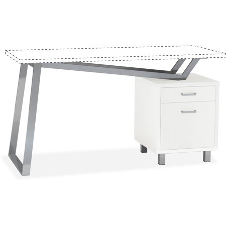 Mayline, MLN1001VBW, Laminate 2-Drawer Pedestal V-desk Base, 1 Each