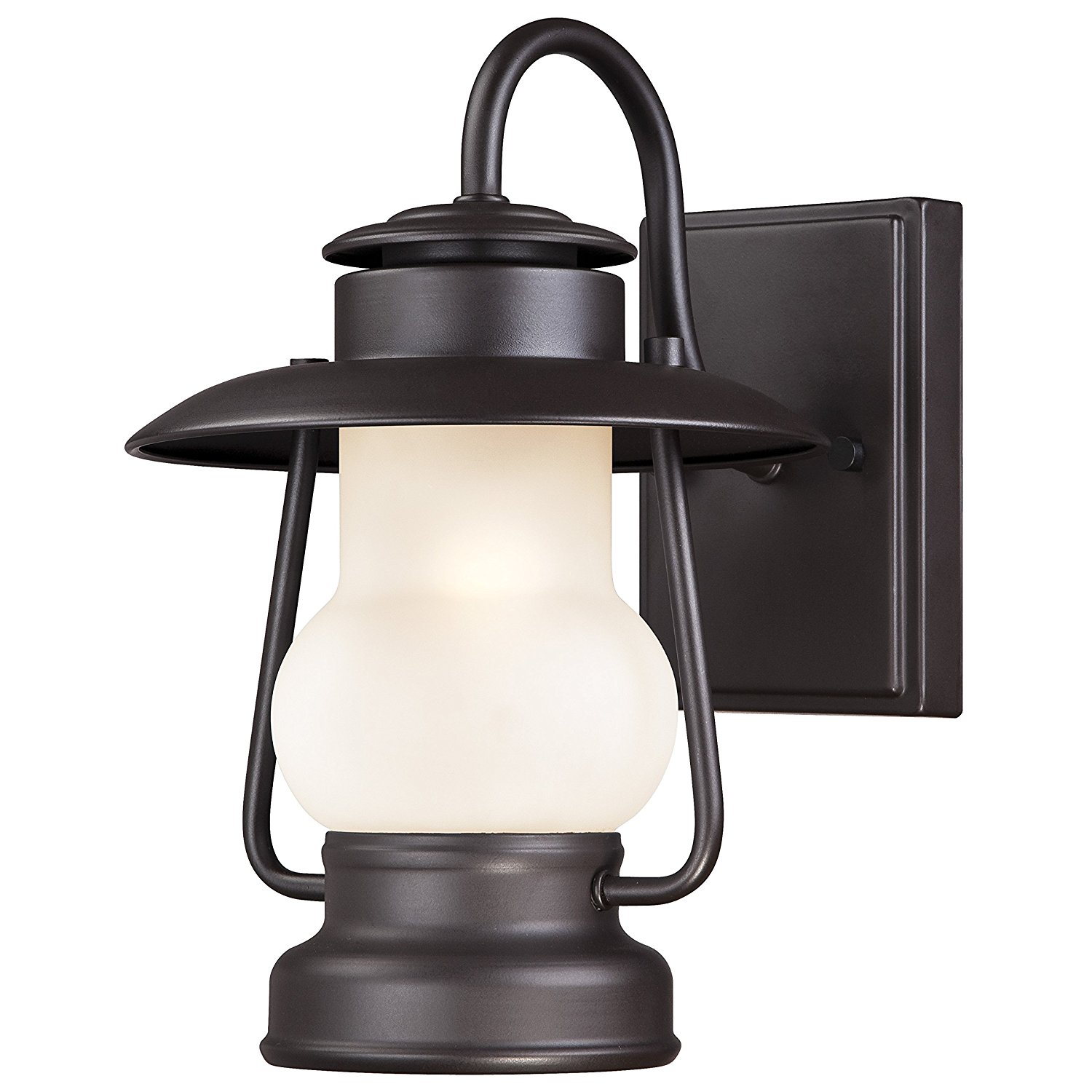 6204200 Santa Fe 1 Light Outdoor Wall Lantern, Weathered Bronze, One-light outdoor Rustic wall lantern is perfect for use in outdoor areas such as.., By Westinghouse