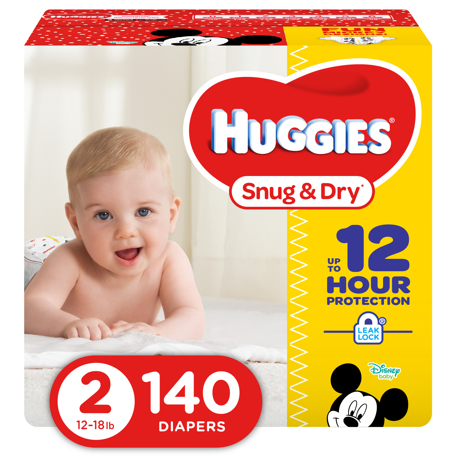 HUGGIES Snug & Dry Diapers, Size 2, 140 Ct
