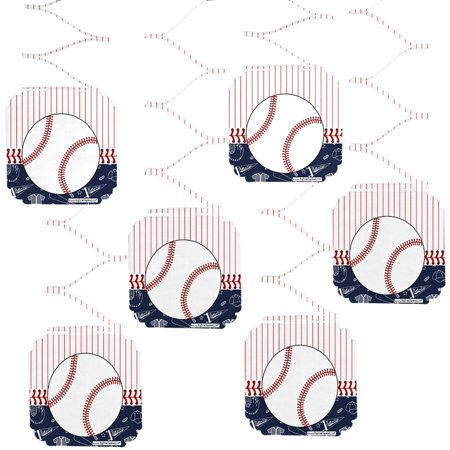Batter Up - Baseball - Baby Shower or Birthday Party Hanging Decorations - 6 Count