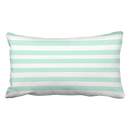 - WinHome Decorative Simple Design Cheap Pillowcase Stripe Horizontal Mint Green Throw Pillow Size 20x30 inches Two Side
