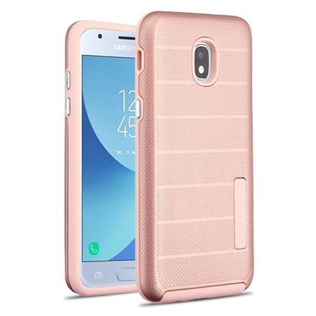 Phone Case For Samsung Galaxy J3 2018, J337, J3 V 3rd Gen, J3 Star, J3 Achieve, Express Prime 3 - Phone Case Shockproof Hybrid Rubber Rugged Case Cover Slim Dots Textured Rose Gold](Halloween Songs For 3rd Graders)