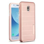 Phone Case For Samsung Galaxy J3 2018, J337, J3 V 3rd Gen, J3 Star, J3 Achieve, Express Prime 3 - Phone Case Shockproof Hybrid Rubber Rugged Case Cover Slim Dots Textured Rose Gold