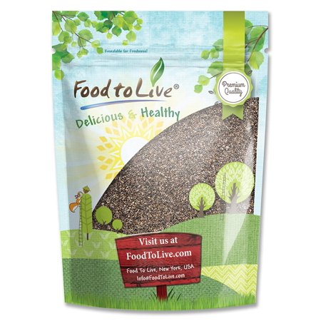Chia Seeds, 2 Pounds - Kosher, Raw, Vegan - by Food to (White Chia Seeds Vs Black Chia Seeds)