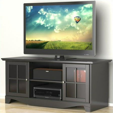 Pinnacle Center Channel Black TV Stand, for TVs up to 60