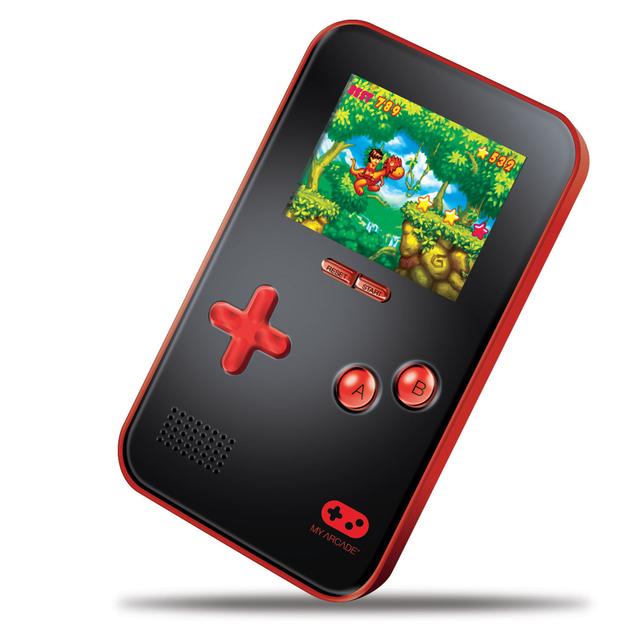 dreamGEAR DGUN-2891 My Arcade Go Gamer Portable Gaming System, Red/Black