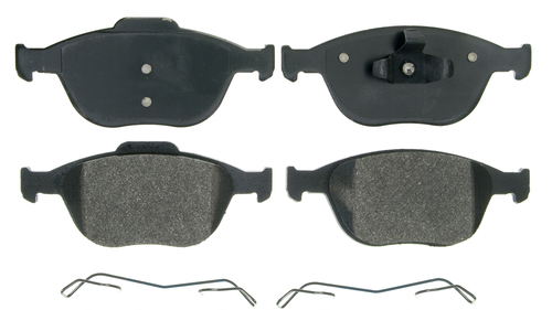 Rear Wagner QuickStop ZX967A Semi-Metallic Disc Pad Set Includes Pad Installation Hardware