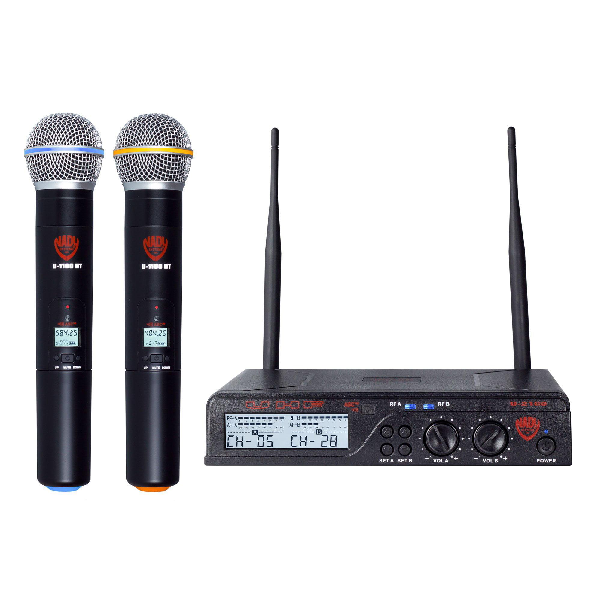 Nady U-2100HTBANDA/B U-2100 Ht Band A/b Dual Uhf Wireless Handheld Microphone System