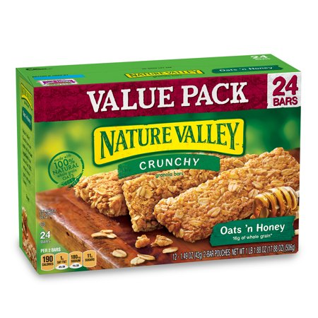 Nature Valley Granola Bars  Crunchy  Oats And Honey  12 Pouches   1 5 Oz  2 Bars Per Pouch  1 49 Oz
