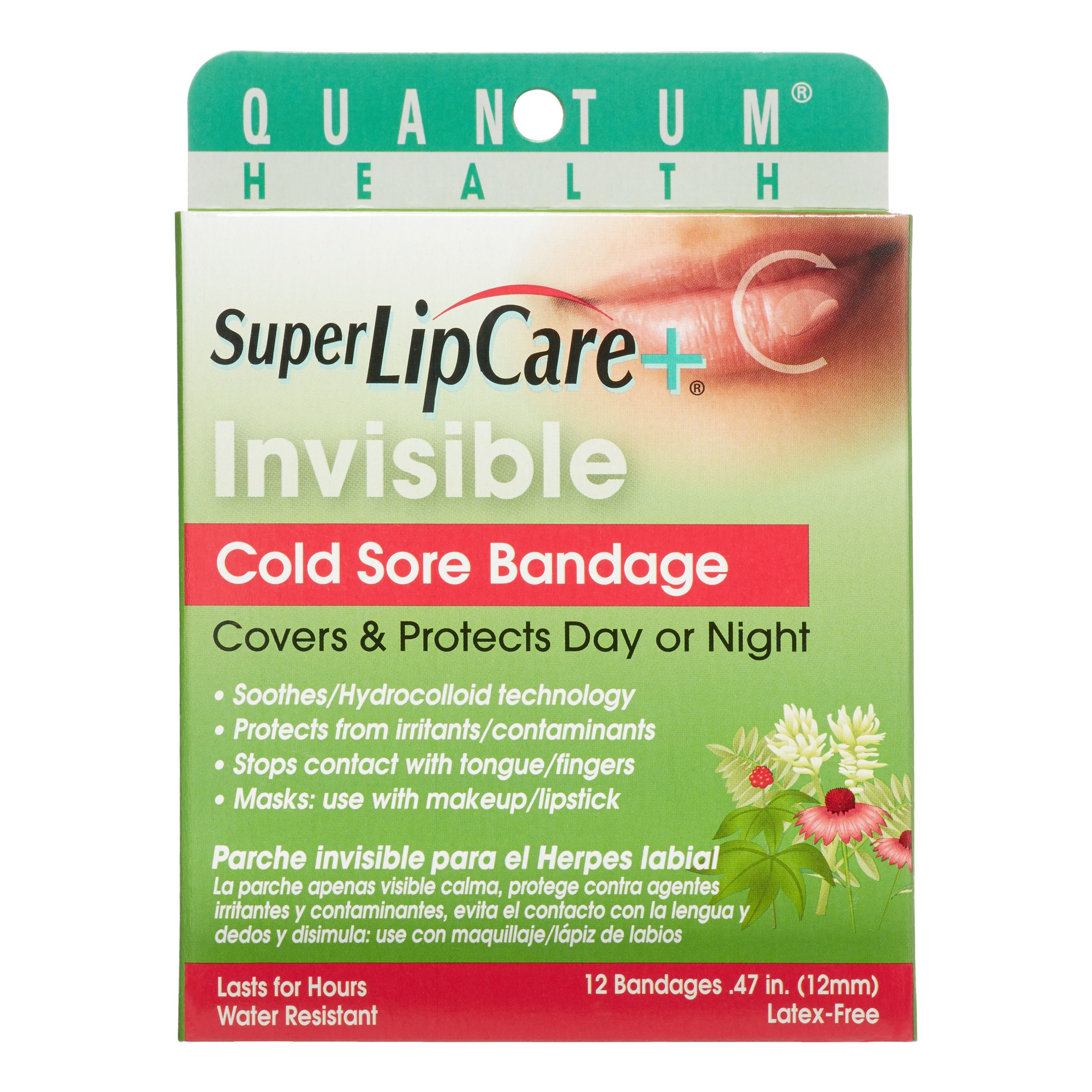 Quantum Invisible Cold Sore Bandage, 12 Ct