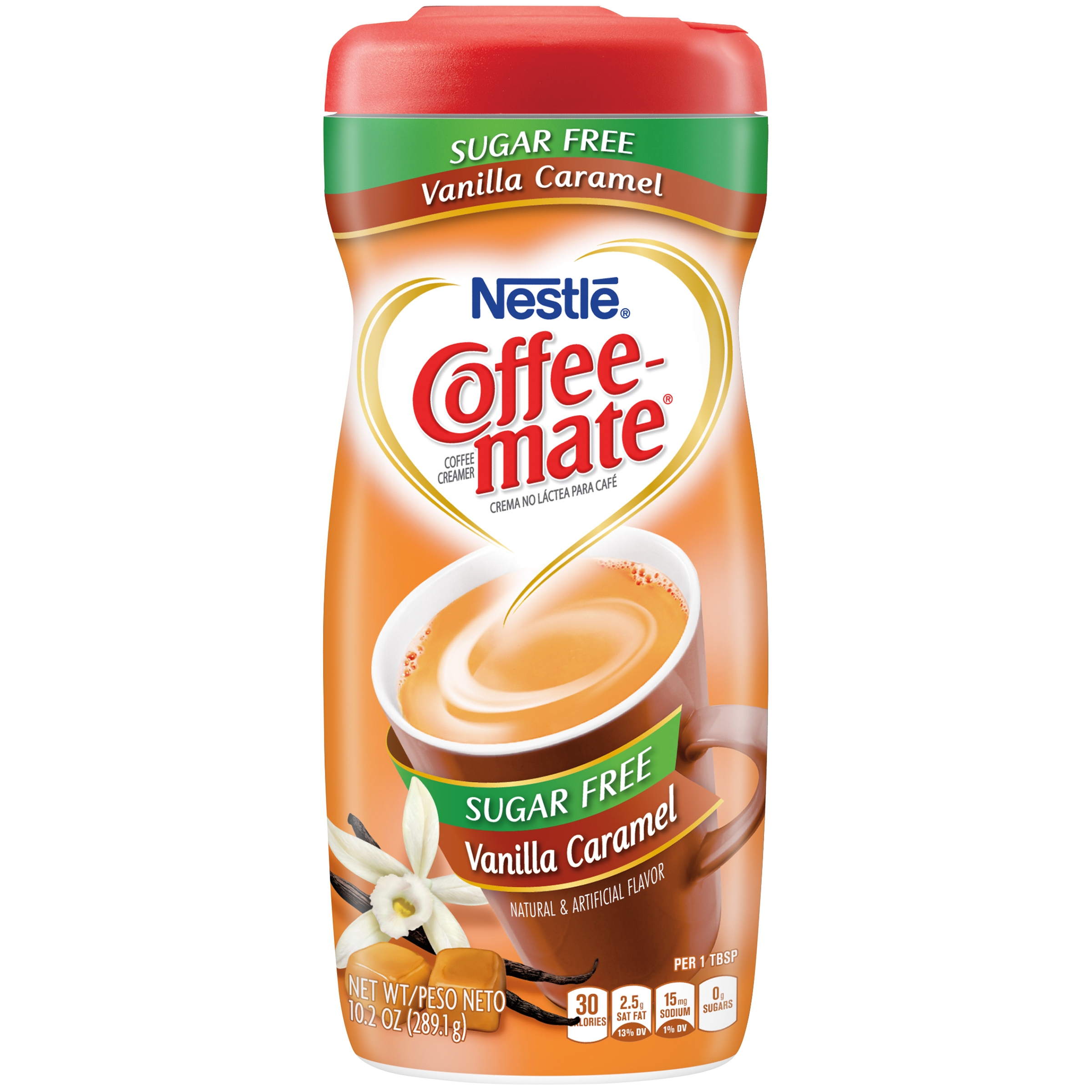 Nestle Coffeemate Sugar Free Vanilla Caramel Powder Coffee Creamer 10.2 oz. Canister