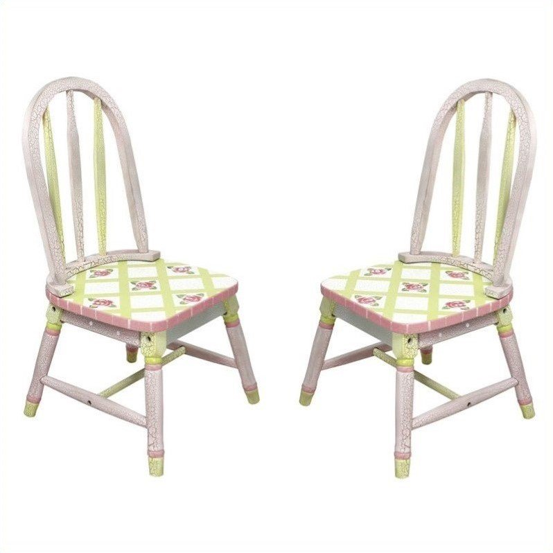 Fantasy Fields Crackled Rose Set of 2 Chairs