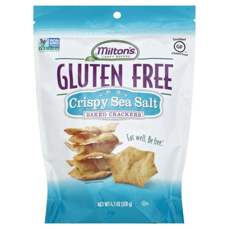 Milton's Gluten Free Crispy Sea Salt Baked Crackers, 4.5 - Crispy Baked Crackers