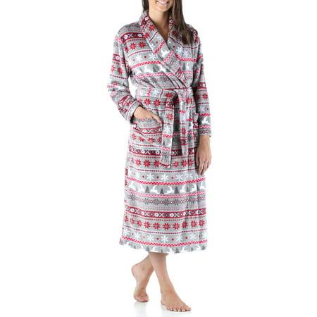 Printed Fleece Robe (PajamaMania Women's Fleece Robe)