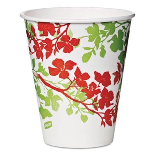 Dixie Foods 827287 Modern Romance Paper Cold Cups, 12 Oz, White/green/brown, 300/carton