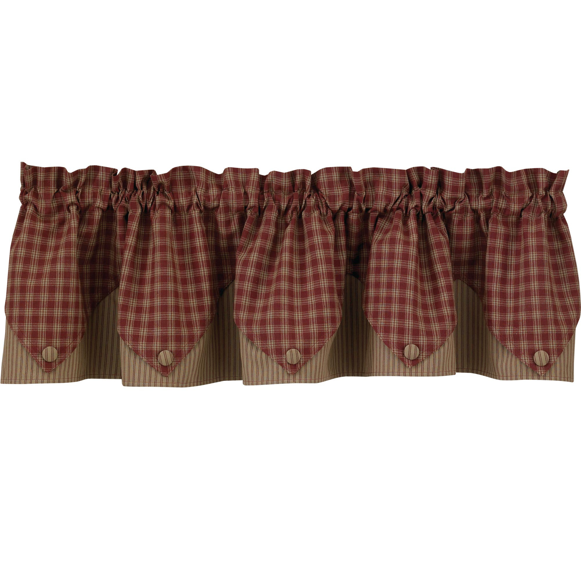 striped curtains lined how to for windows valance country window decorate room living bay valances style french kitchen elegant