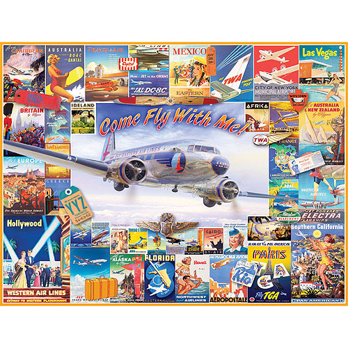 White Mountain Puzzles Come Fly With Me Puzzle, 1000 Pieces