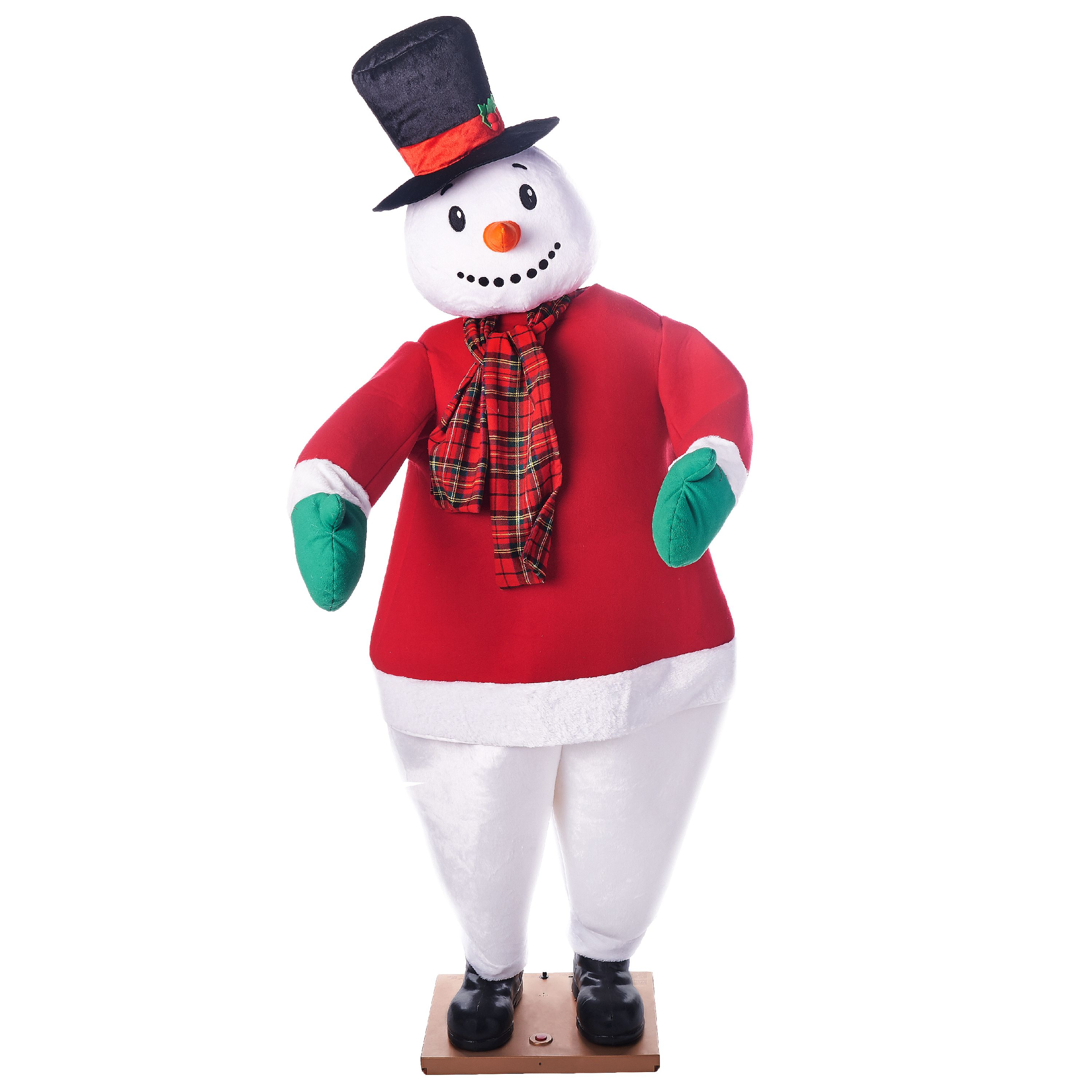 Holiday Time Life-Size Dancing Snowman,'6'