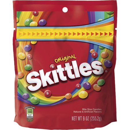 8 PACKS : Skittles Original Candy, 9 ounce bag 9 Ounce Bags Pack
