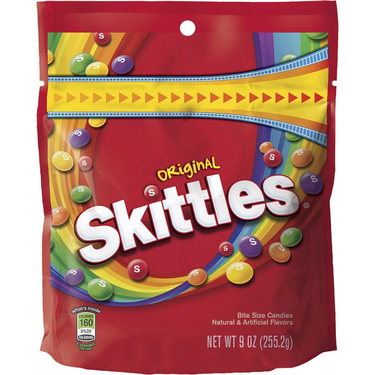 8 PACKS : Skittles Original Candy, 9 ounce bag