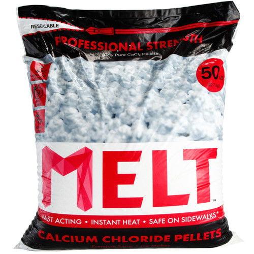Snow Joe MELT Calcium Chloride Pellets Ice Melter, 50 lb. Resealable Bag