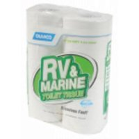4 Pack 500 Sheet 1 Ply RV and Marine Toilet TissueFast Dissolving Clog R