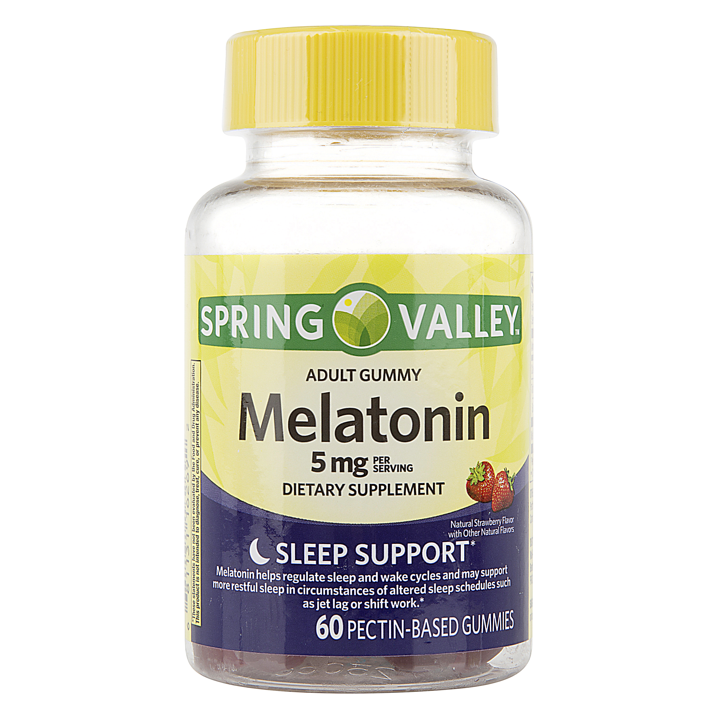 Spring Valley Melatonin Adult Pectin-Based Gummies, 5 mg, 60 count