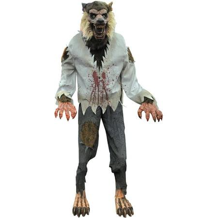 lurching werewolf animated halloween decoration