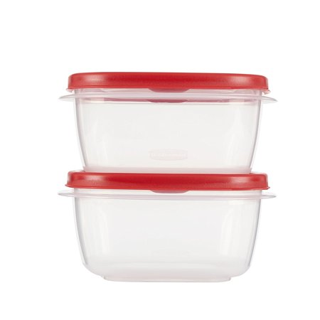 Easy Find Lid Food Storage Set, 5 Cup, 4 Piece set (2 Cups and 2 Lids), Easy-find lids snap together and to container bases so you can always find the.., By Rubbermaid Ship from US
