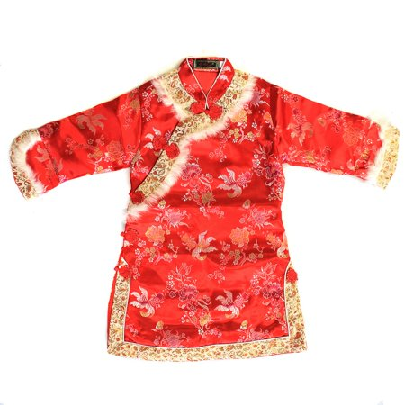 Girl Traditional Chinese Qipao Dress With Flower Gold Fish Lunar New Years](Fish Dress Up)