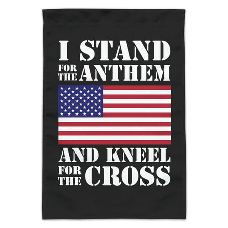 I Stand For The Flag Kneel Cross USA American Flag Patriotic Garden Yard Flag (Pole Not Included)](Yard Flag Pole)