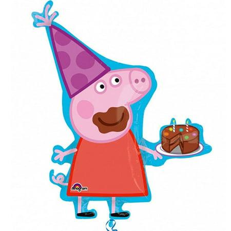 Jumbo Supershape Peppa Pig Character Foil / Mylar Balloon - Peppa Pig Party Theme