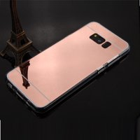 Samsung Galaxy S8+, S8 Plus Case - Wydan Clear Transparent Gummy Mirror Reflective Shockproof Phone Cover Rose Gold