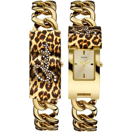 Guess Steel W0321l5 Women S Watch Only Gold Tone Id Bracelet With Self