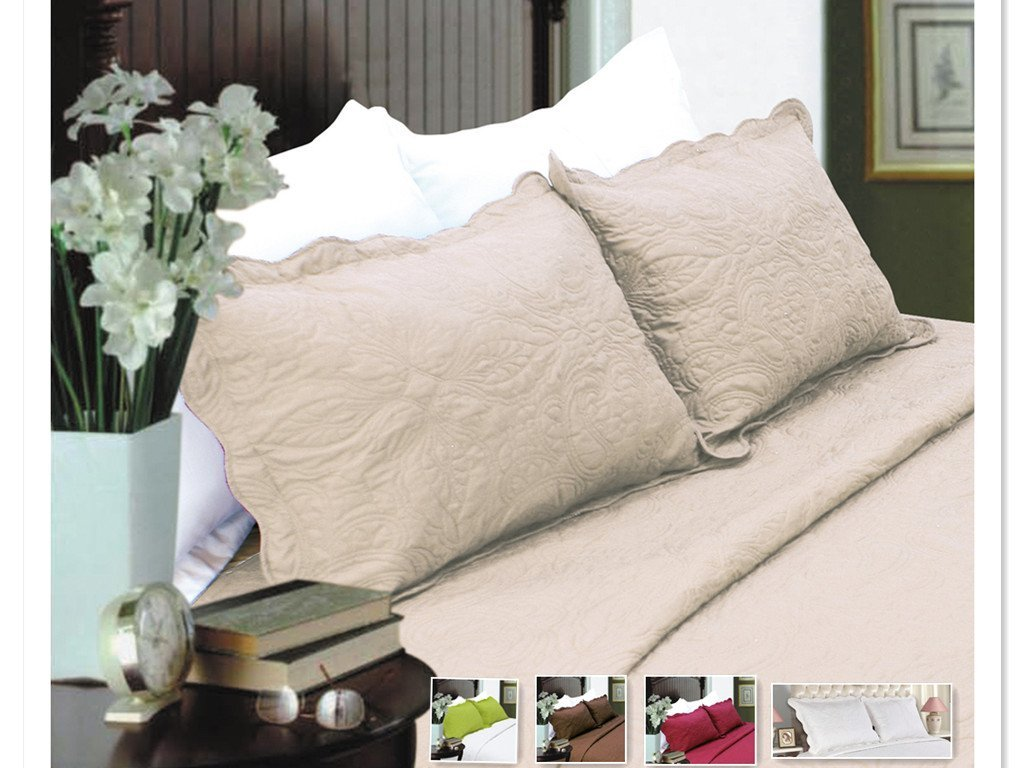 2-Piece Embroidered Pillow Shams-King size