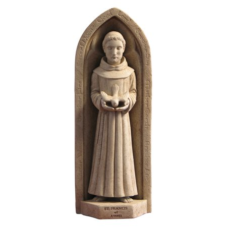 Washington National Cathedral St. Francis Wall Plaque/Garden Statue ()