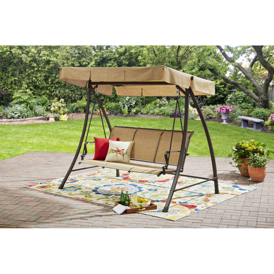Mainstays Wesley Creek Sling Swing With Canopy Seats 3