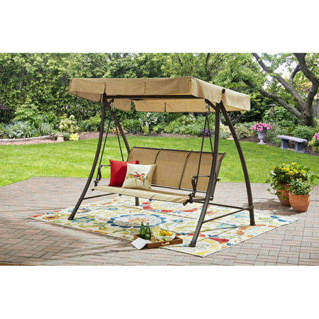 Mainstays Wesley Creek Sling Swing with Canopy, Seats