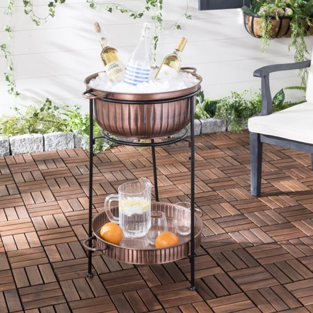 Safavieh Naka 2 Tier Outdoor Copper Beverage Tub with