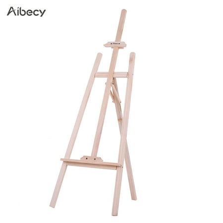 Aibecy 150cm/ 59 Inch Durable Art Artist Wood Wooden Easel Sketch Drawing Stand NZ Pine for Painting Sketching Display Exhibition](Wooden Easel Stand)