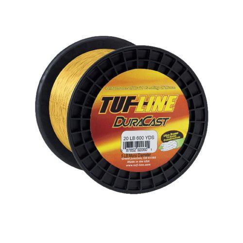 Western Filament's 125 Yard TUF-Line Dura Cast, 24-Pound, Yellow Multi-Colored