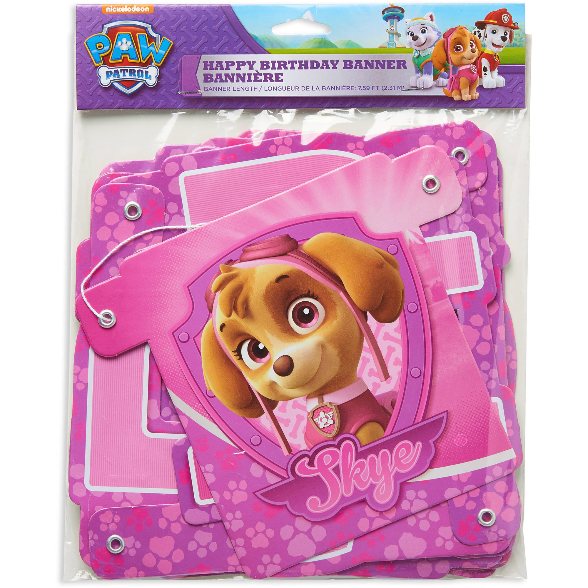 PAW Patrol Pink Birthday Party Decoration Banner 759 Ft