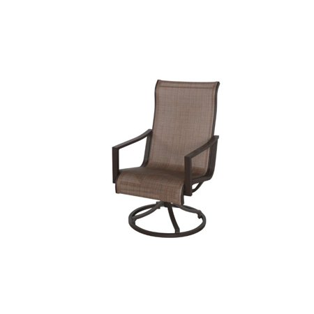 Terrific Sunvilla Allegro Swivel Patio Dining Chair In Tweed Lamtechconsult Wood Chair Design Ideas Lamtechconsultcom