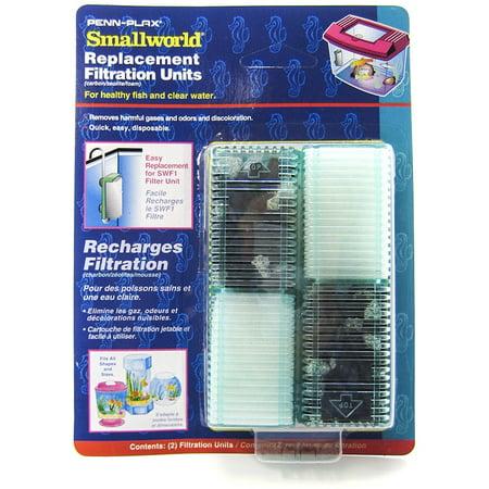 2 Pack Aquarium Air Pump - Penn Plax Smallword Air Filter & Filter Kit Replacement Cartridges 2 Pack