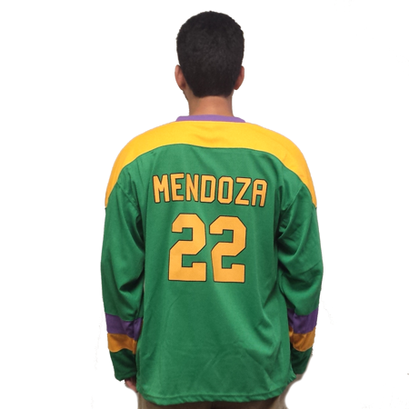 Luis Mendoza #22 Mighty Ducks Movie Hockey Jersey 90s D2 Costume Sweater Uniform](90s Halloween Ideas)